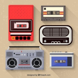 Music Players Collection Free Vector