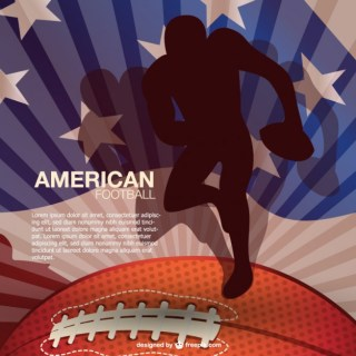 National Sport American Football Background Free Vector