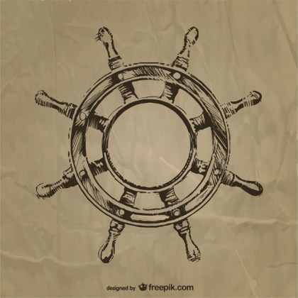 Nautic Steering Wheel Free Vector