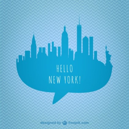 New York Skyline Graphics Free Vector