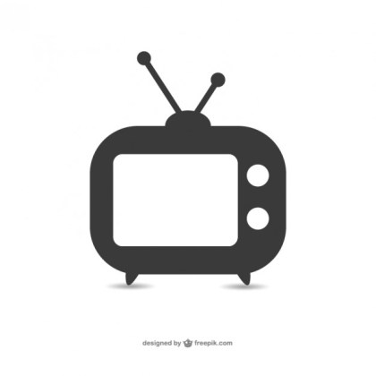 Old Television Icon Free Vector