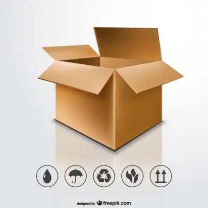 Open Cardboard Box Free Vector