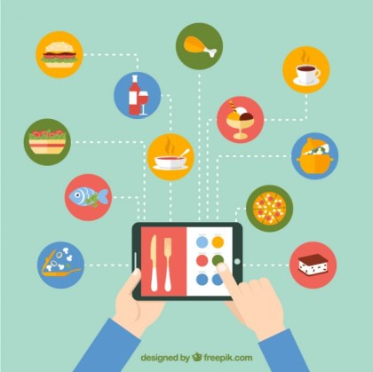 Ordering Food Online Free Vector