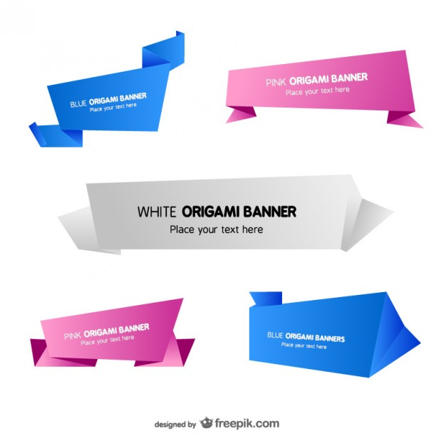 Origami Banner Templates Free Vector