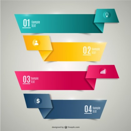 Origami Banners Free Vector