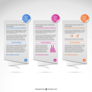Origami Banners Infographic Free Vector