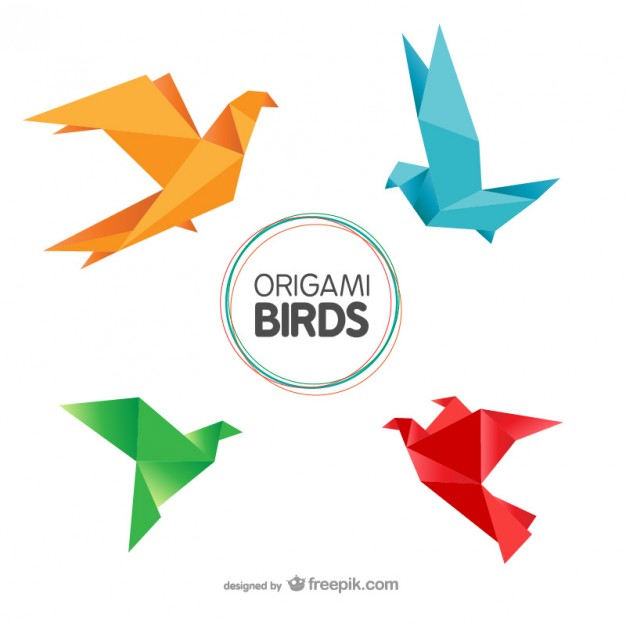Origami Birds Pack Free Vector