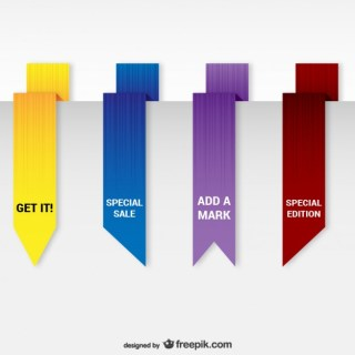 Origami Bookmarks Pack Free Vector