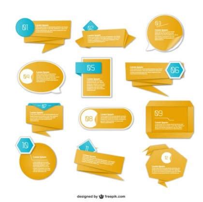 Origami Graphics Information Presentation Design Free Vector