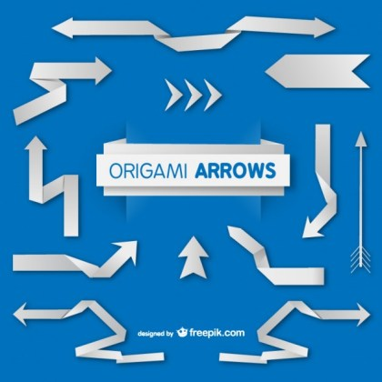 Origami Paper Arrows Free Vector