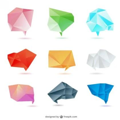 Origami Paper Design Free Vector