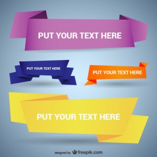 Origami Style Banner Templates Free Vector