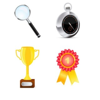 Pack of Competition Objects Free Vector