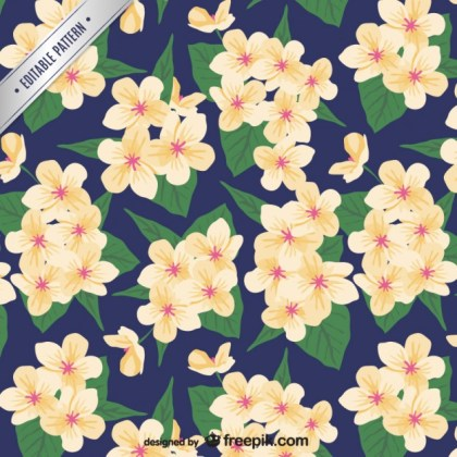 Painted Floral Pattern Free Vector