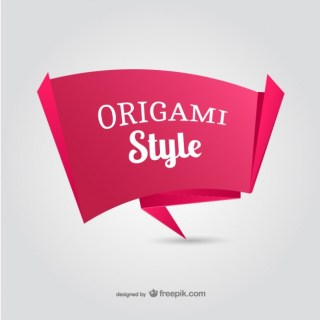 Paper Origami Banner Free Vector