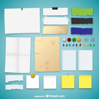Paper Textures Collection Free Vector