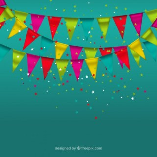 Party Garlands Free Vector