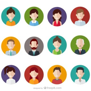 People Avatars Free Vector