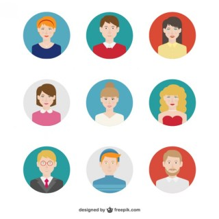 People Avatars Pack Free Vector