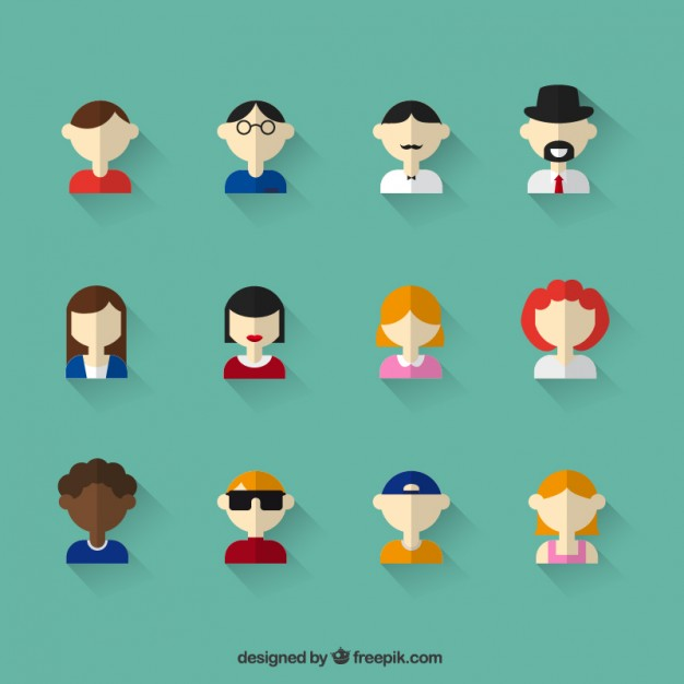 People Icons Free Vector