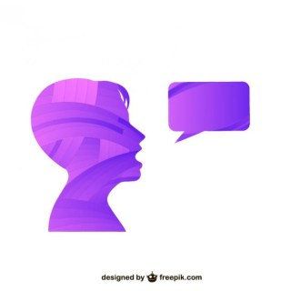 Person Talking Silhouette Free Vector