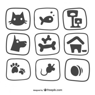 Pet Icons Pack Free Vector
