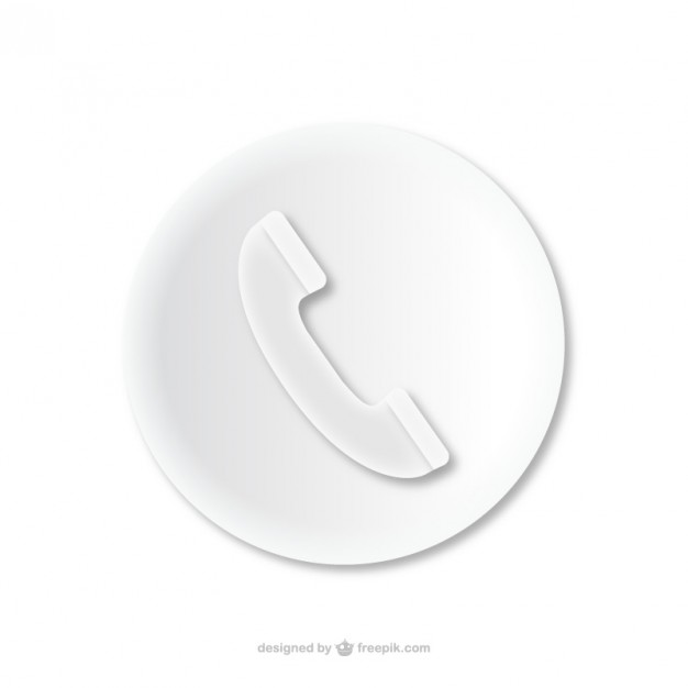 Phone Call Embossed Icon Free Vector