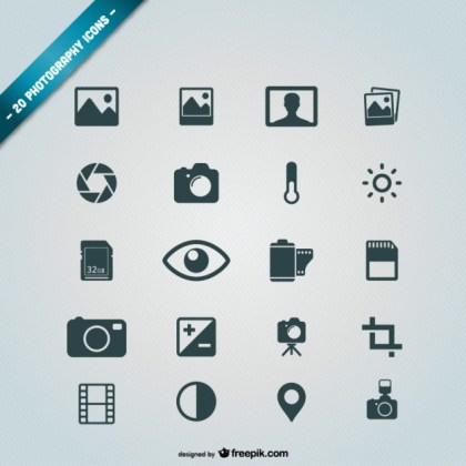 Photography Icons Free Free Vector