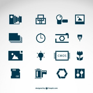Photography Icons Logo Templates Free Vector