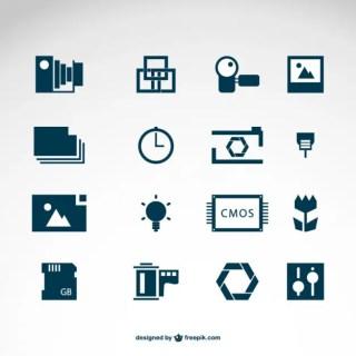 Photography Icons Logo Templates Free Vector