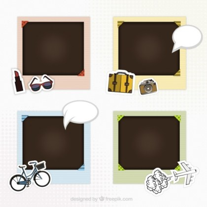 Picture Frames for Scrapbook Free Vector