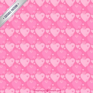 Pink Hearts Pattern Free Vector