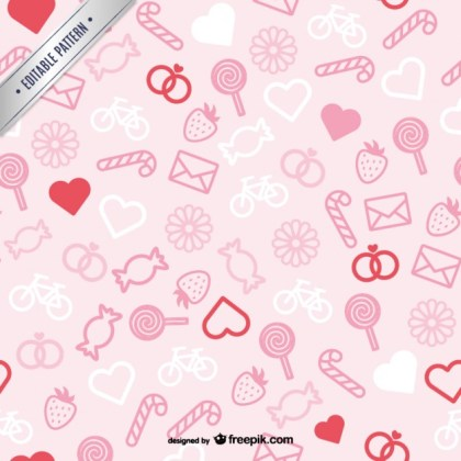 Pink Valentines Pattern Free Vector
