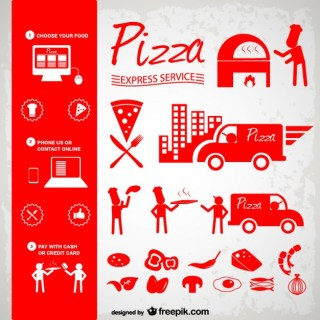 Pizza Icons Free Download Free Vector