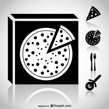 Pizza Icons Web Free Vector