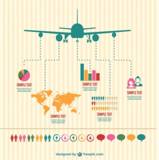 Plane Infography Design Free Vector