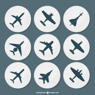 Plane Silhouettes Pack Free Vector