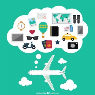 Plane Travel Free Vector