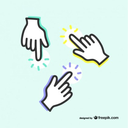 Pointing Icon Hands Free Vector