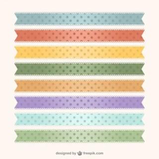 Polka Dots Ribbons Free Vector