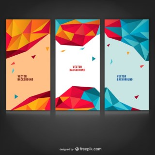 Polygonal Abstract Backgrounds Free Vector