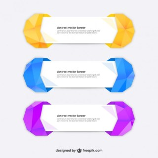 Polygonal Banner Template Free Vector