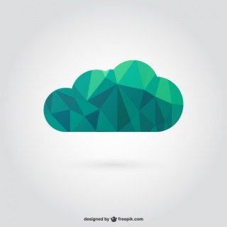 Polygonal Cloud Free Vector