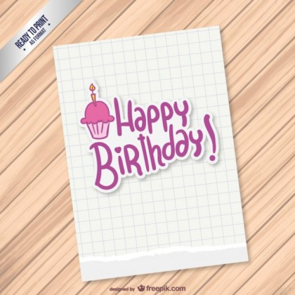 Printable Birthday Card Free Vector