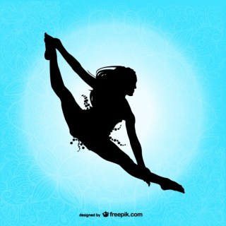 Professional Dancer Silhouette Free Vector