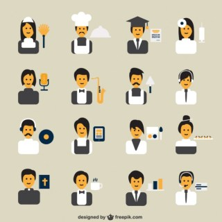 Professions Avatars Free Vector