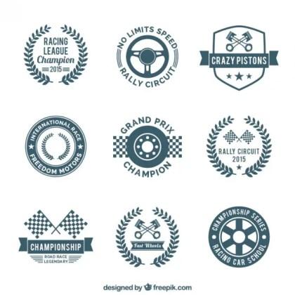 Race Emblems Free Vector