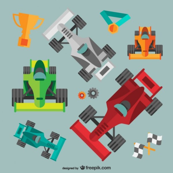 Racing Cars Pack Free Vector