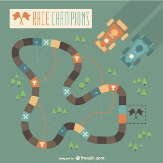 Racing Circuit Free Vector