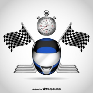 Racing Elements Free Vector
